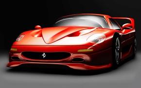 samochd, Ferrari, Sport, sport, maszyna, czerwony, Wycigi