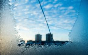 узор, мороз, окно