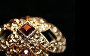 Vintage, ring, jewel, stones
