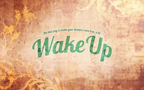 style, wake up, words, background
