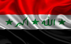 irak, satin, flag, флаг, Ирак