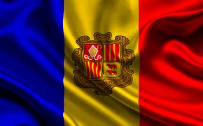 andorra, satin, flag, flag, Andorra