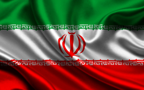 iran, satin, flag, flag, Iran, sateen
