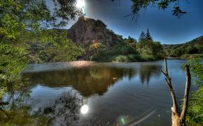 河, 美国, 马里布, California, HDR