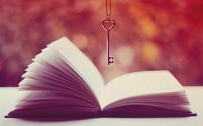 key, book, Page