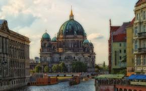 Berlino, Germania, edificio, acqua, citt