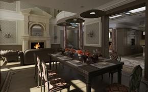 内部, 风格, 设计, 房子城堡, 生活空间