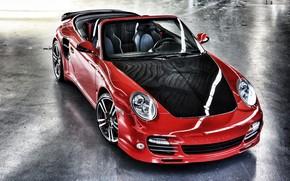 Porsche, rosso, cabriolet, Carbonio, Porsche