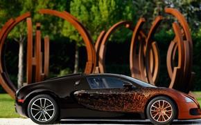 тюнинг, бугатти вейрон, вид сбоку, Bugatti