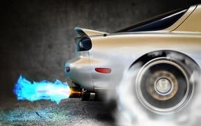 Mazda, fuoco, Fast and Furious, fumare, Turbo, Nitro, autobus, ruota, Mazda