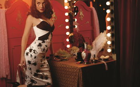 Natalia Oreiro, vestir, espejo, ver, Lmpara
