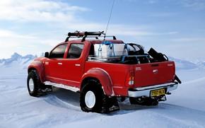 North Pole, snow, Winter, Skiing, toyota