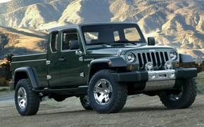 jeep, gladiator, Concept, Jeep