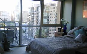 Innen-, Stil, Design, Stadt, Wohnung, Zimmer, Schlafzimmer