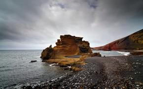 море, скала, пейзаж