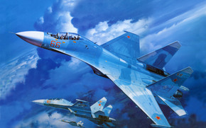 fighter, plane, aviation, Russian Air Force