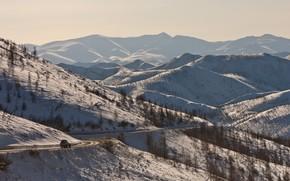 Yakutia, Montagne, passare, macchina