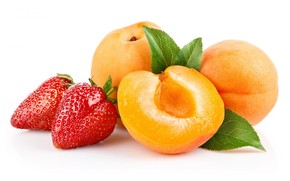 food, fruit, strawberry, peach