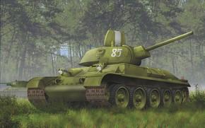танкк, лес, советский