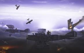 pelea de perros, La Primera Guerra Mundial, aeronave, escaramuza, noche