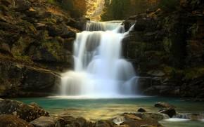 река, водопад, природа
