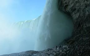 waterfall, rocks, flow, water, stones
