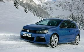 Montagne, neve, Volkswagen