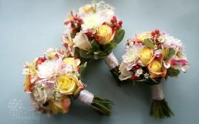 георгин, розы, ромашки, альстромерия, букет, композиция, цветы