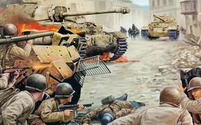 Italien, Ferdinand, ACS, Soldiers, Schlacht, Deutschen, Italien, Bild