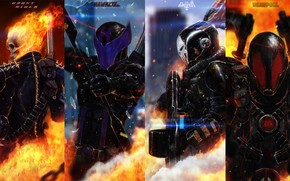 Marvel, Heroes, Ghost Rider, Hawkeye, chastener, fantasy