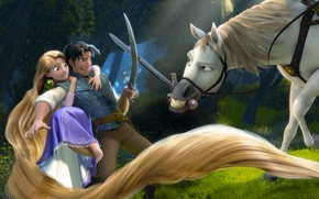 Rapunzel, Cartoon, horse