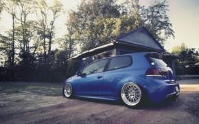 blu, casa, Volkswagen