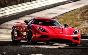 Koenigsegg, Ager p, rosso, traccia, supercar