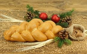 pane, rotolare, grano, cottura al forno, Coni, Palle, ferie