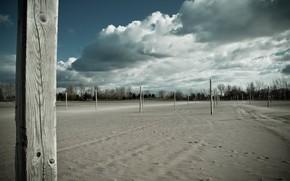поле, балки, пейзаж