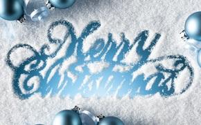congratulazione, Natale, vacanza, iscrizione, Palle, blu, neve, Capodanno