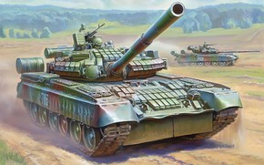 Russian, primary, combat, tank, gun, launcher, installation, has, dynamic, protection, contact