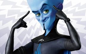 Megamind, blue, view