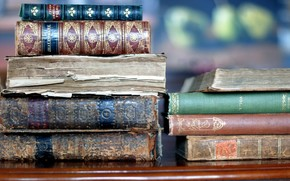 Books, macro, old