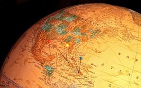globo, mappa, Macro