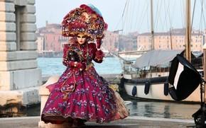 венеция, карнавал, костюм, маска, платье
