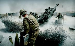 artyleria, wojsko, py, powrt, volley