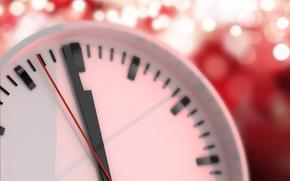 часы, циферблат, стрелки, Новый год