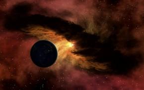 Espacio, planeta, Estrella, nebulosa, energa