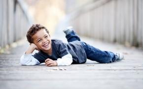 мальчик, улыбка, настроение