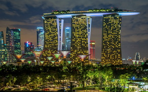 singapore, garden and the sand, city