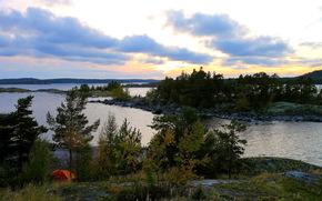 paesaggio, fiume, Karelia
