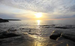 sea, horizon, nature