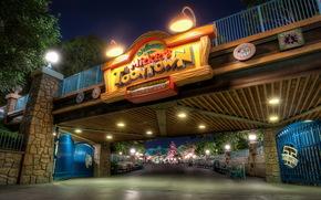 Stati Uniti d'America, Disneyland, ponti, California, notte