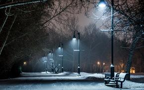 город, улица, ночь
